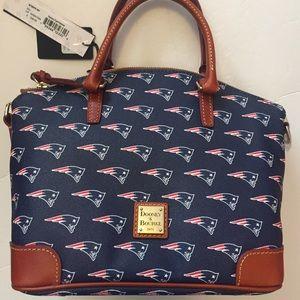New $258 Dooney & Bourke Patriots Football Satchel